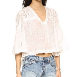 [Fre People] Carry Me Away Gauze Top